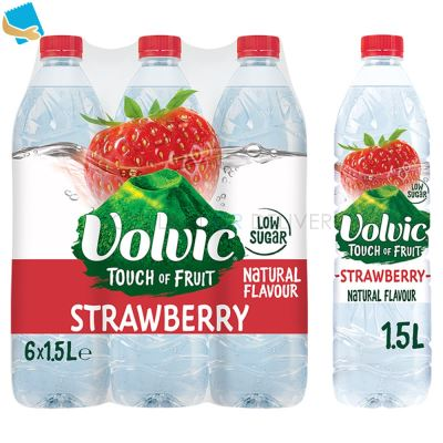 Volvic Touch of Fruit Low Sugar Strawberry Natural Flavoured Water 6 x 1.5L