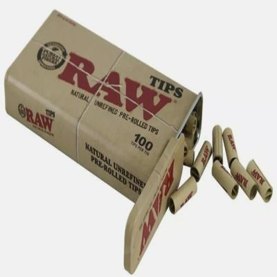 RAW PRE ROLLED TIPS FILTER ROACHES PAPER NATURAL ROLLING PERFECTO