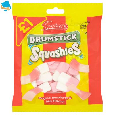 Swizzels Drumstick Squashies Original Raspberry And Milk 145G