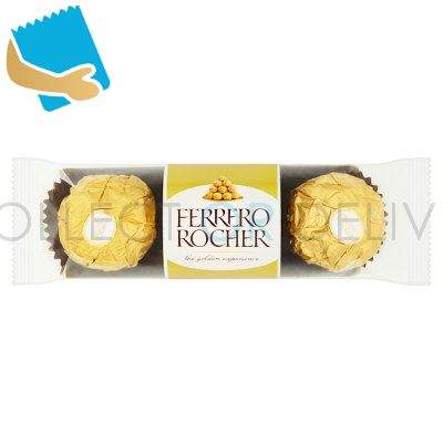 Ferrero Rocher Chocolate Pralines Treat Pack 3 Pieces (37.5G)