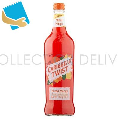 Caribbean Twist Mixed Mango Alcoholic Sparkling Drink 70Cl