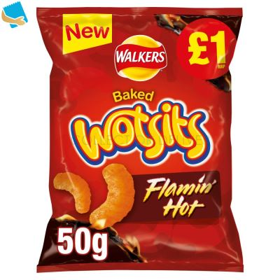 Walkers Wotsits Flamin' Hot Snack 50G