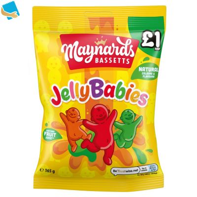 Maynards Bassetts Jelly Babies Sweets Bag 165G