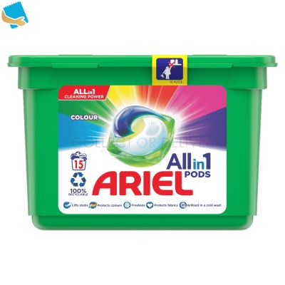 Ariel Allin1 Pods Washing Capsules Colour 15 Washes