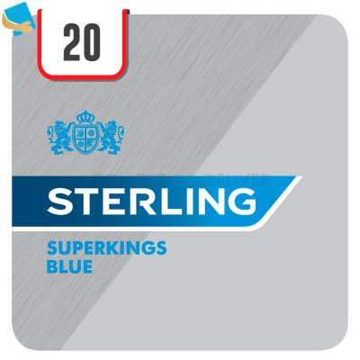 Sterling Superkings Blue 20 Cigarettes