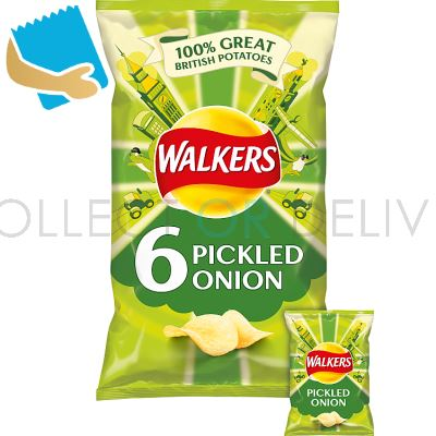 Walkers Pickled Onion Crisps 6X25g