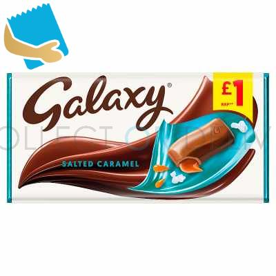 Galaxy Salted Caramel Chocolate Bar 135G