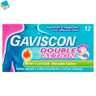 Gaviscon Double Action Mint Flavour Chewable Tablets 12 Tablets