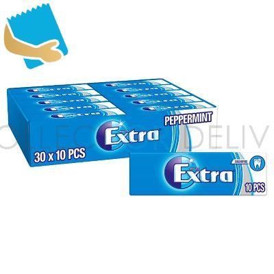 Extra Peppermint Chewing Gum Sugar Free 10 Pieces