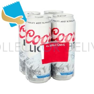 Coors Light Can 4 Pack