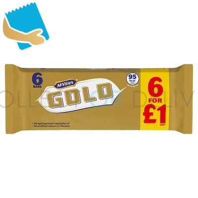 McVitie's Gold Caramel Flavour Biscuits 6 Bars 106g