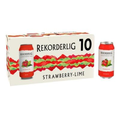 Rekorderlig Premium Cider Strawberry & Lime 10 X 330 Ml