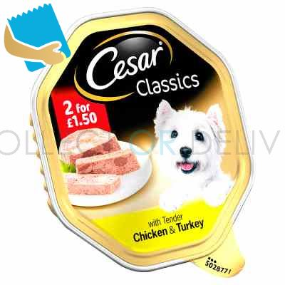 Cesar Classics Wet Dog Food Tray with Tender Chicken & Turkey in Loaf 150g