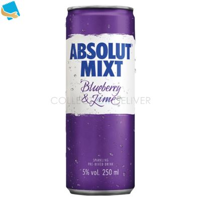 Absolut Mixt Blueberry & Lime Mixed Vodka Drink 250ml