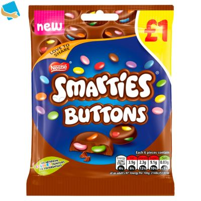 Smarties Buttons Milk Chocolate Sharing Pouch 78G