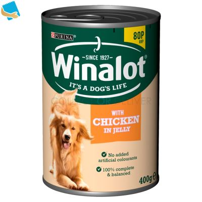 WINALOT Classics Tinned Dog Food with Chicken in Jelly 400g