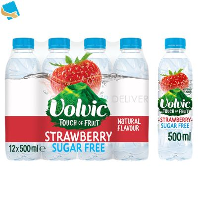 Volvic Touch of Fruit Sugar Free Strawberry Natural Flavoured Water 12 x 500ml