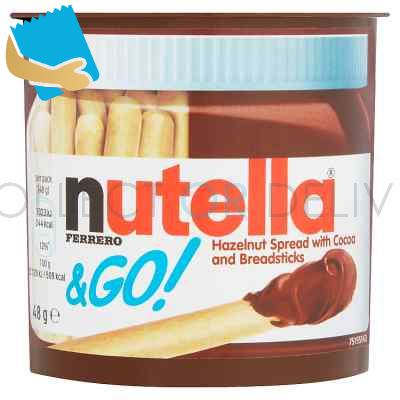 Nutella & Go! Hazelnut Spread With Chocolate Spread And Breadsticks Single 48G