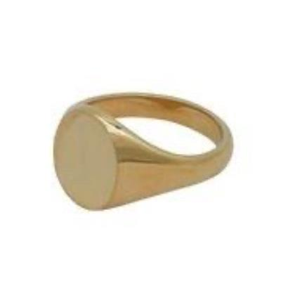 Oval Head 9Ct Yellow Gold Signet Ring