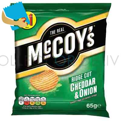 Mccoy's Cheddar & Onion Sharing Crisps 65G,