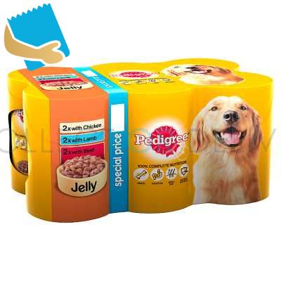Pedigree Wet Dog Food Tins Mixed Variety Selection In Jelly 6 X 385G ( )