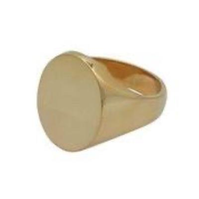 Oval Head Heavy Weight 9Ct Yellow Gold Signet Ring