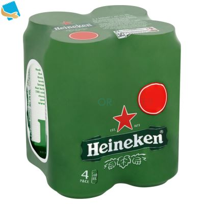 Heineken Lager Beer 4 X 440Ml Cans