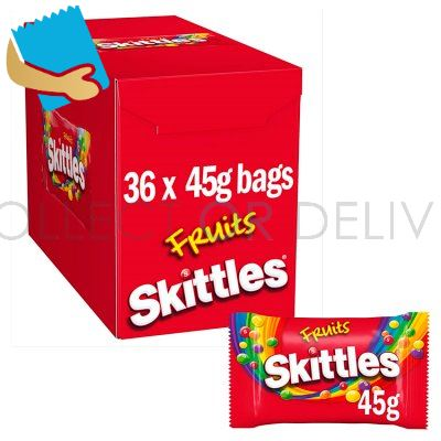 Skittles Fruits Sweets Bag 45G
