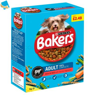 BAKERS ADULT Beef with Vegetables Dry Dog Food 1kg