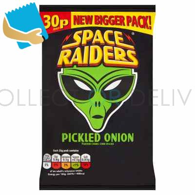 Space Raiders Pickled Onion Crisps 25G,