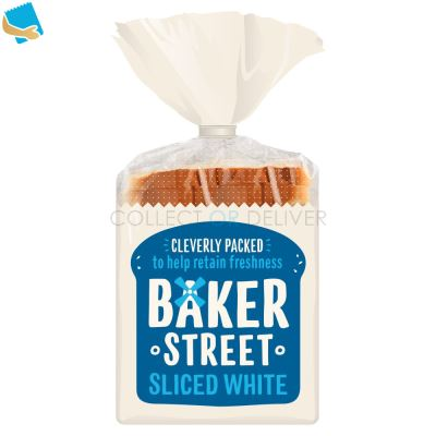 Baker Street Sliced White Bread 550G