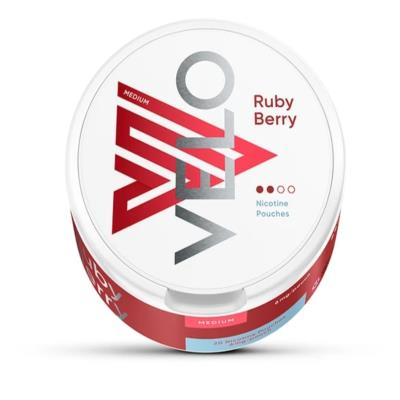 VELO NICOTINE POUCHES RUBY BERRY 6MG