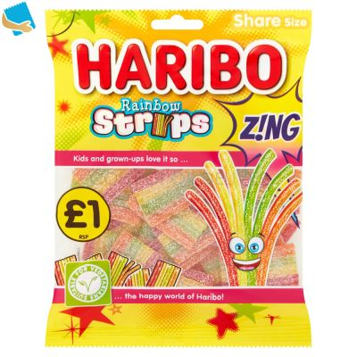 HARIBO Rainbow Strips Z!Ng Bag 130G PM