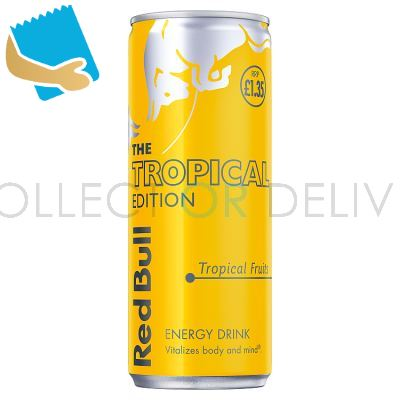 Red Bull Energy Drink, Tropical Edition, PM , 250ml (12 Pack)