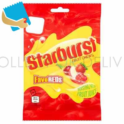 Starburst Fave Reds Fruit Chews Sweets Treat Bag 141G