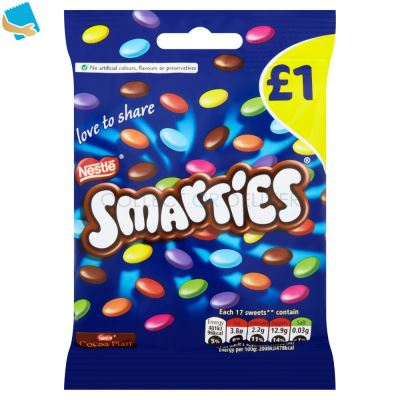 Smarties Milk Chocolate Sharing Pouch 87g