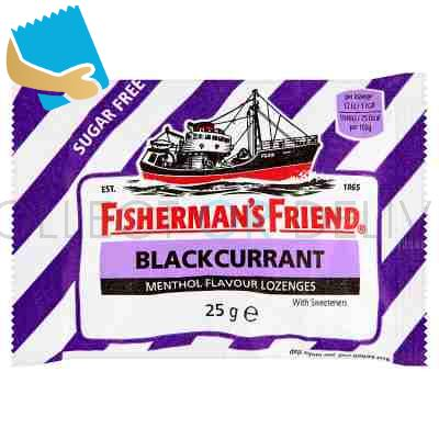 Fisherman's Friend Blackcurrant Menthol Flavour Lozenges With Sweeteners 25G