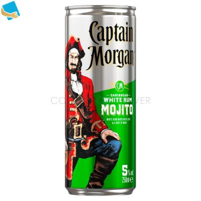 Captain Morgan White Rum Mojito Ready To Drink Premix Can 250Ml