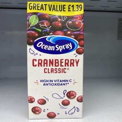 OCEAN SPRAY CRANBERRY CLASSIC 1L