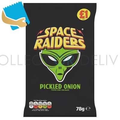 Space Raiders Pickled Onion Crisps 78g