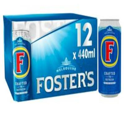 Foster's Lager Beer cans 12X440ml