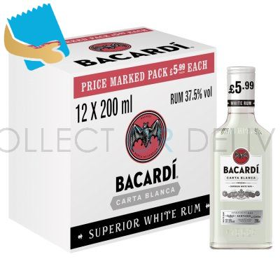 Bacardi Carta Blanca Rum 350Ml