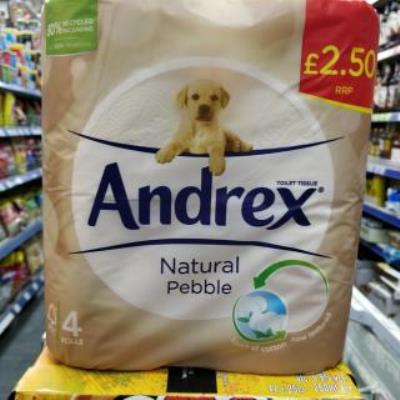 Andrex Natural Pebble 4 Roll