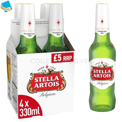 Stella Artois Lager Beer Bottles 4 X 330Ml