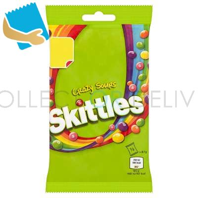 Skittles Crazy Sours Sweets Treat Bag 125g