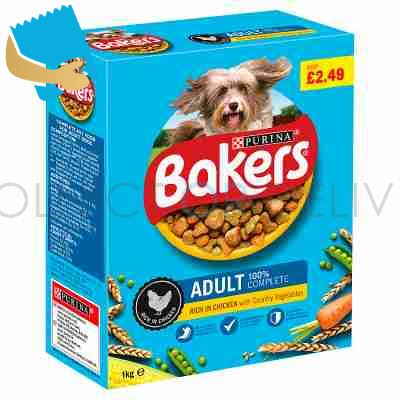 BAKERS ADULT Chicken with Vegetables Dry Dog Food 1kg