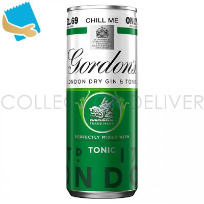 Gordon's Gin With Schweppes Gin & Tonic 250Ml