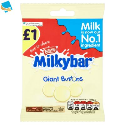 Milkybar White Chocolate Giant Buttons Sharing Pouch 85g