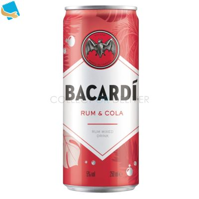 Bacardí Rum & Cola Rum Mixed Drink 250Ml