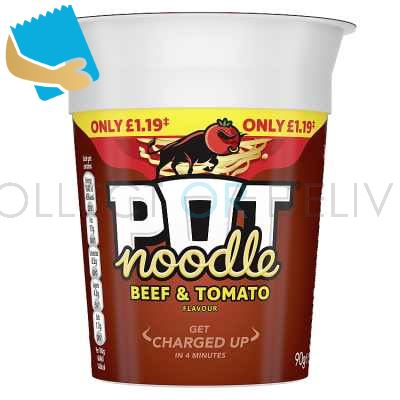 Pot Noodle BEEF AND TOMATO standard 90 GR